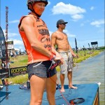 Getting ready for her run at Correct Craft Wake Games